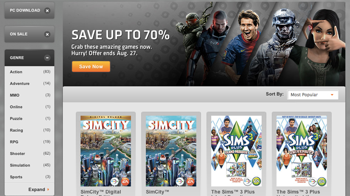 Origin Launches Sale, Save Up To 70 Percent