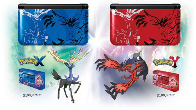 Pokemon X, Pokemon Y 3DS XLs Announced - Full Cleared