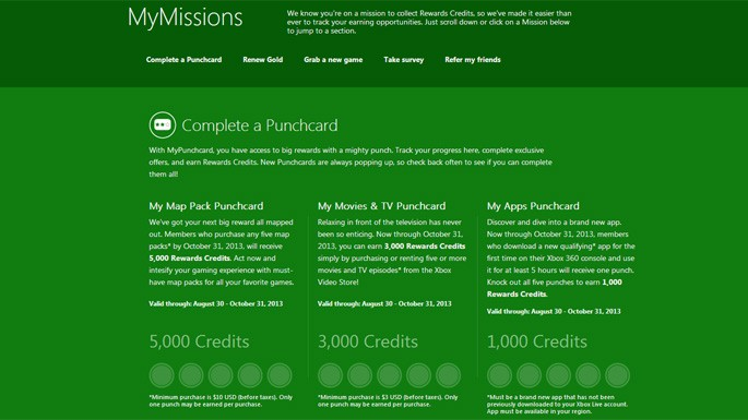 New Xbox Live Rewards Program Revealed - Full Cleared