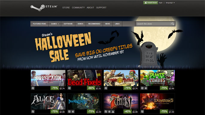 Steam Halloween Sale Slashes Prices on Nearly 150 Games - Full Cleared