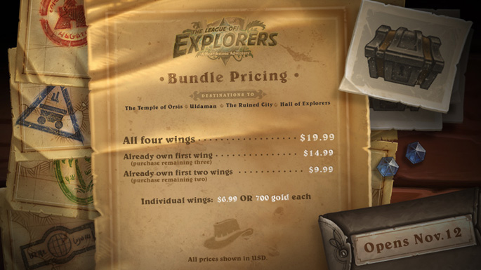 Hearthstone's The League of Explorers Launches Nov 12