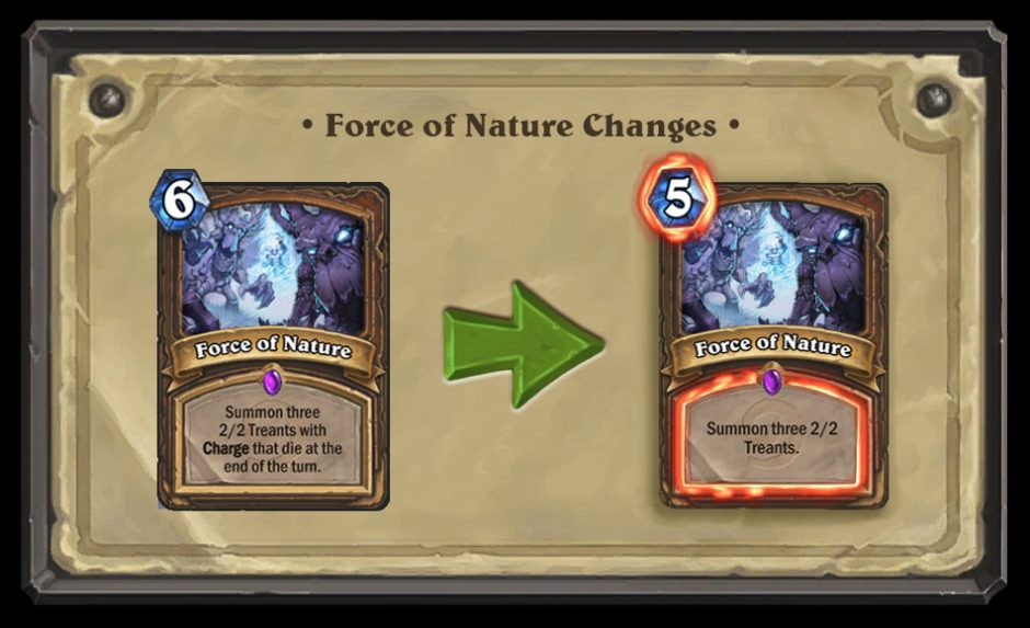 Numerous Hearthstone Cards are Getting Changed