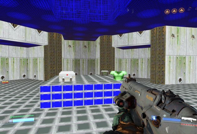 Classic Doom maps can be found throughout the game, throwing you back to the past.