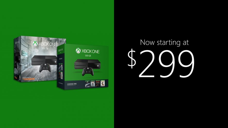 Xbox One Now Priced From $299