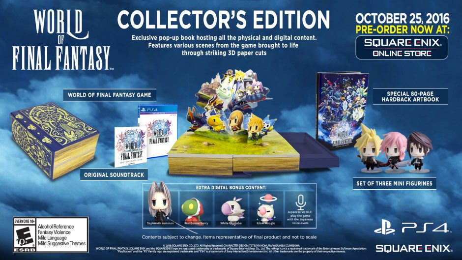 World of Final Fantasy Collector's Edition Includes a Mini Cloud